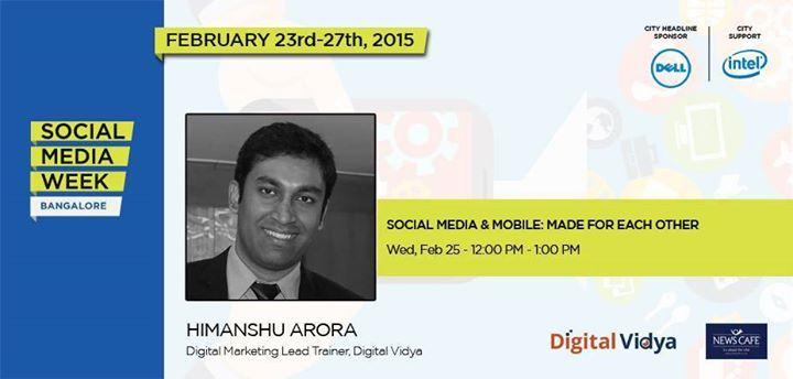 Speaker at Social Media Week - Himanshu Arora